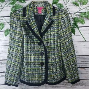 NWOT Sunny Leigh 3 button knit blazer cardigan 8